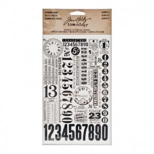 Tim Holtz remnant rubs numbers TH93056