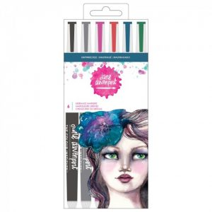 Jane Davenport mermaid brush markers x 6 shipwrecked - 320741