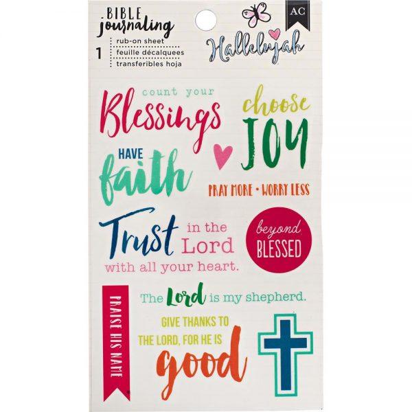 """Bible Journaling Rub-on sheet """"Hallelujah"""" 378675"""