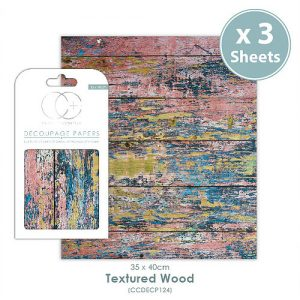 Craft Consortium Textured Wood Decoupage Papers CCDECP124