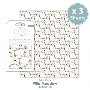 Craft Consortium Wild Meadow Decoupage Papers CCDECP192