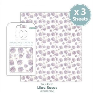Craft Consortium Lilac Roses Decoupage Papers CCDECP206