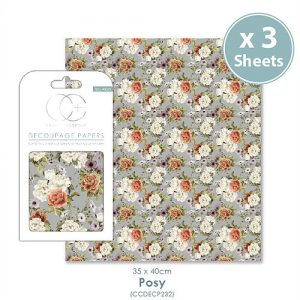 Craft Consortium Posy Decoupage Papers CCDECP232