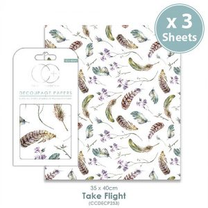 Craft Consortium Take Flight Decoupage Papers CCDECP251