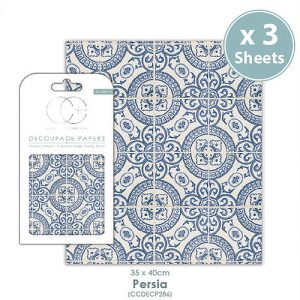 Craft Consortium Persia Decoupage Papers CCDECP286