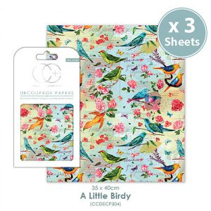 Craft Consortium A Little Birdy Decoupage Papers CCDECP304