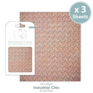 Craft Consortium Industrial Chic Decoupage Papers CCDECP301
