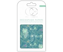 Craft Consortium Peacock Blue Decoupage Papers CCDECP047