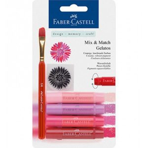 Faber-Castell Mix & Match Gelatos & Clear Stamp Set Red FC-121802