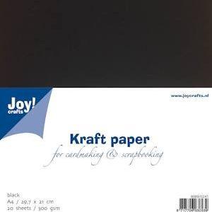 Kraft paper zwart A4 300 gram