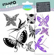 Aladine Stampo Clear Papillons is een set van 9 clear vlinderstempels. Ideaal voor Art Journaling en Bible Journaling