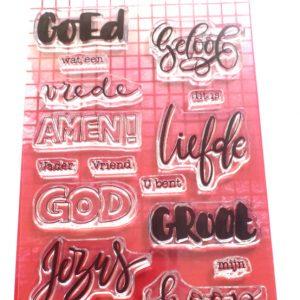 Clearstamps Biblejournaling Woorden (Nederlands)
