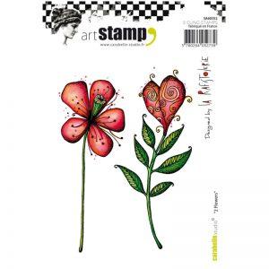 Carabelle Stamp Set - 2 flowers SA60352