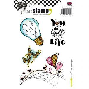 Carabelle Stamp Set - You are my light SA60349E . Ideaal voor art journaling, bible journaling en kaarten maken