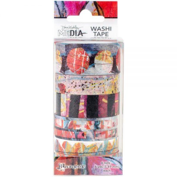 Ranger dina wakley washi tape (MDA59981) 6 rollen