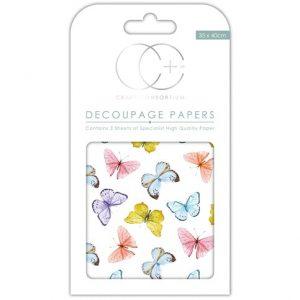 Craft Consortium Kaleidoscope of Butterflies Decoupage Papers CCDECP250