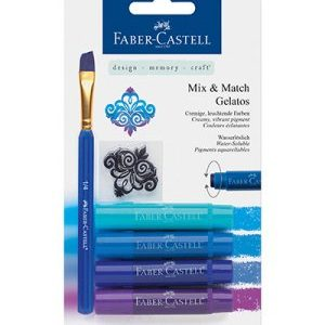 Faber-Castell Mix & Match Gelatos & Clear Stamp Set Blue FC-121803