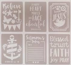 Bible Journaling Stencils 6 stuks 378670 (Engels)