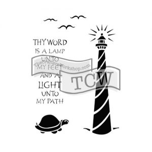 Tcw bible journaling stencil lighthouse TCW2151