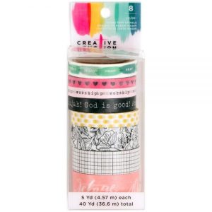 Creative Devotion Bible Journaling Washi Tape 342625, 8 rollen met verschillende designs en verschillende breedtes