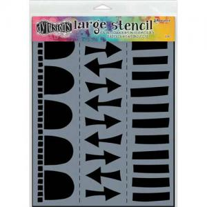 Dylusions Stencil Arrow Border Large - DYS47155 van Dyan Reavely,