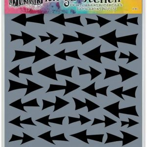 Dylusions Stencil Direction Large - DYS52272 van Dyan Reavely voor art journaling en bible journaling, pijlen