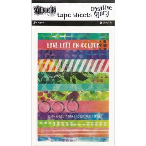 Dylusions creative dyary 8 tape sheets DYE58571