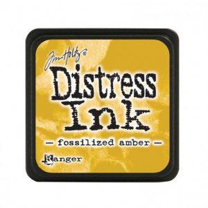 Ranger Distress Inkt Mini Fossilized Amber TDP46783 voor mixed media, stempelen, bible journaling en stencilen