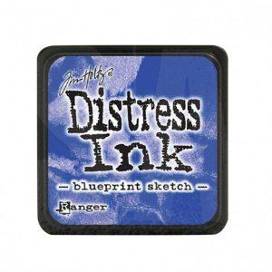 Distress Inkt Mini Blueprint Sketch TDP47346 voor stencilen, stempelen, kaarten maken, art journaling
