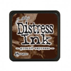 Distress Inkt Mini Ground Espresso TDP47353 voor stempelen, stencilen, bible- en art journaling