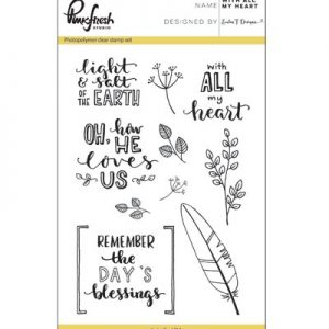 Pinkfresh Stempelset With All My Heart PFCS1517 ideaal voor bible journaling en kaarten maken