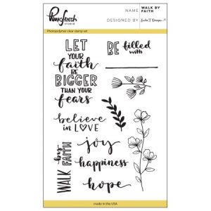 Pinkfresh Stempelset Walk By Faith PFCS1617 ideaal voor bible journaling en kaarten maken