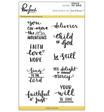 nkfresh Stempelset Child of God PFCS2716, ideaal voor bible journaling en kaarten maken
