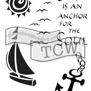 Tcw Bible journaling stencil Hope is an Anchor TCW2150. Ideaal voor bible journaling en kaarten maken