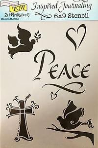 Tcw Bible journaling stencil Peace TCW2152. Dit stencil is ideaal voor bible journaling, art journaling en kaarten maken