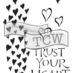 Tcw Bible journaling stencil Trust your Heart TCW2147. Ideaal voor Bile Journaling en Art Journaling