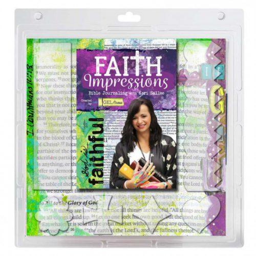 Gel Press Printing Platen Faith Set voor Bible Journaling 10803F01
