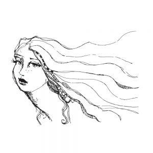Jane Davenport Clear Stamp Hair Lines JDS-021