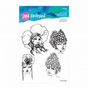 Jane Davenport Clear Stamps Flower Girls JDS-037