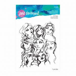 Jane Davenport Clear Stamp Girl Group JDS-015
