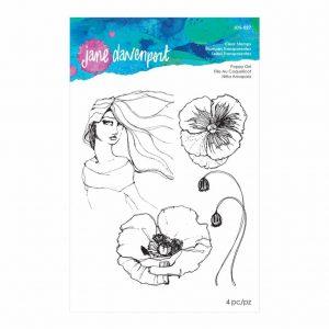 Jane Davenport Clear Stamps Poppy Girl JDS-027