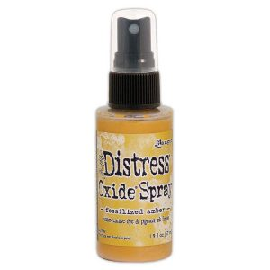 Tim Holtz distress oxide spray fossilized amber tso64756
