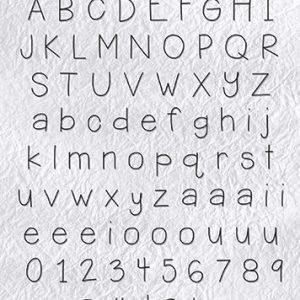 ALCS002 Nellie's Choice Stempel alfabet Lars