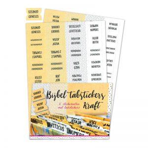 Bijbel tabstickers Kraft 8719324353427