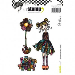 Carabelle stempel Ilona and the fabric flower SA60376
