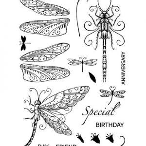 Pink Ink Designs Stempelset Dragonfly PI005