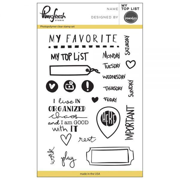 Pinkfresh Stempelset My Top List (PFCS2516)
