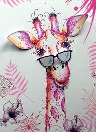 Pink Ink Designs Stempelset Giraffe PI012