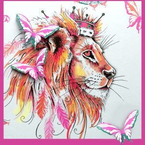 Pink Ink Designs Stempelset Lion PI018
