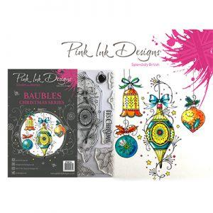 Pink Ink Design Stempelset Kerstballen PI036
